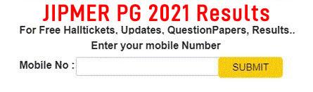 JIPMER PG 2021 Results