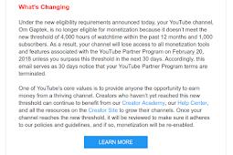 2018 Dapat Uang Dari YouTube Lebih Susah (Minimal 4.000 watch time dan 1.000 subscriber!)