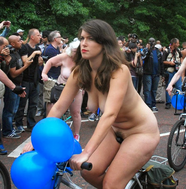 On naked bike lady