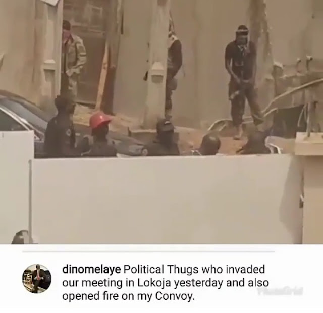 Masked politician thugs that released bullets at Dino melaye convoy