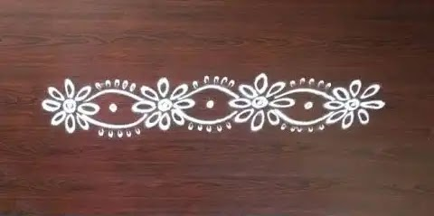 simple kolam rangoli for borders at home