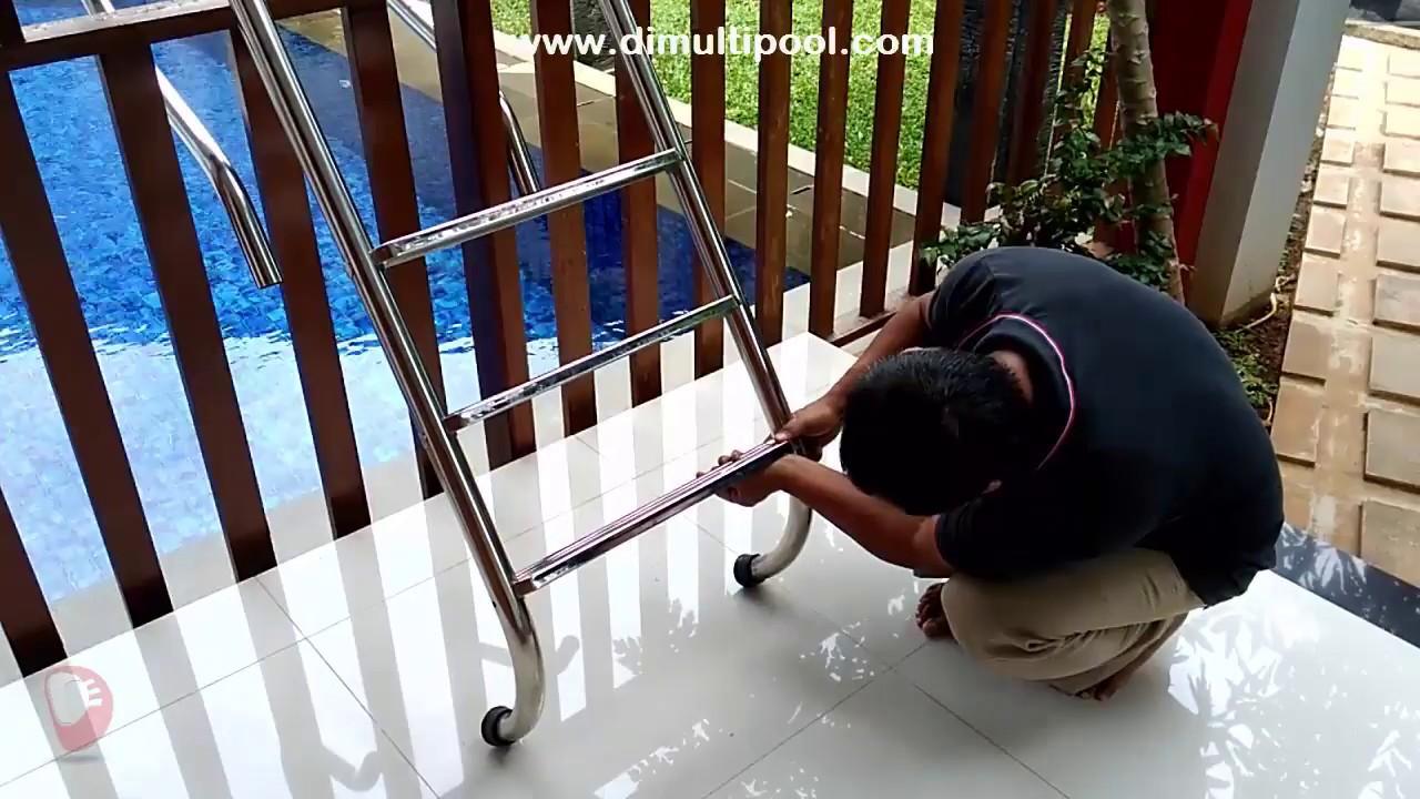 Perbaikan tangga kolam renang