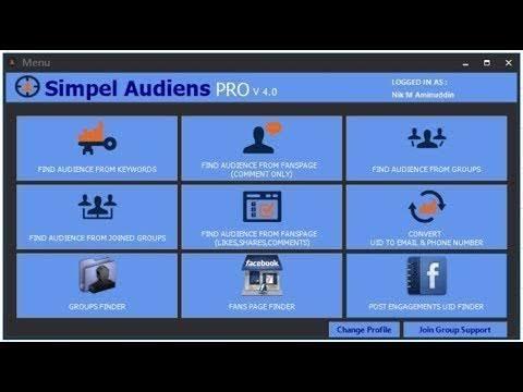 تحميل برنامج سحب الداتا  simple audience x factor  اخر اصدار مجانا