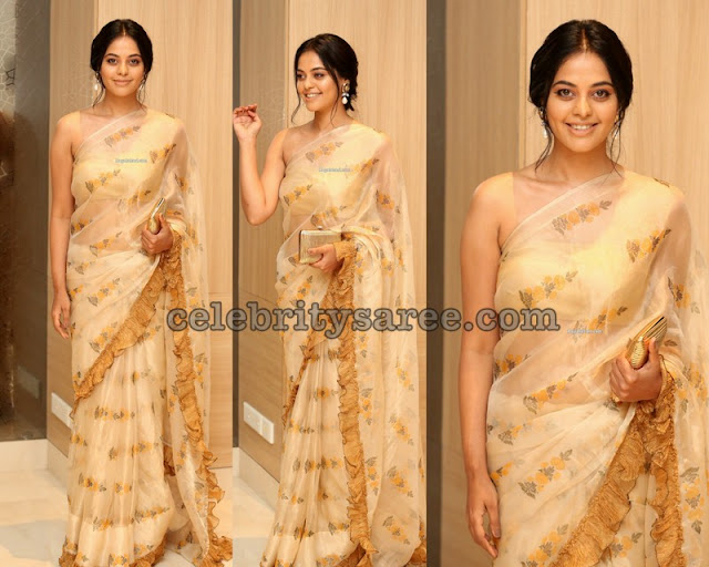 Bindhu Madhavi Floral Saree
