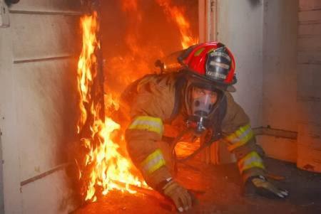 A prova de fogo casa em chamas