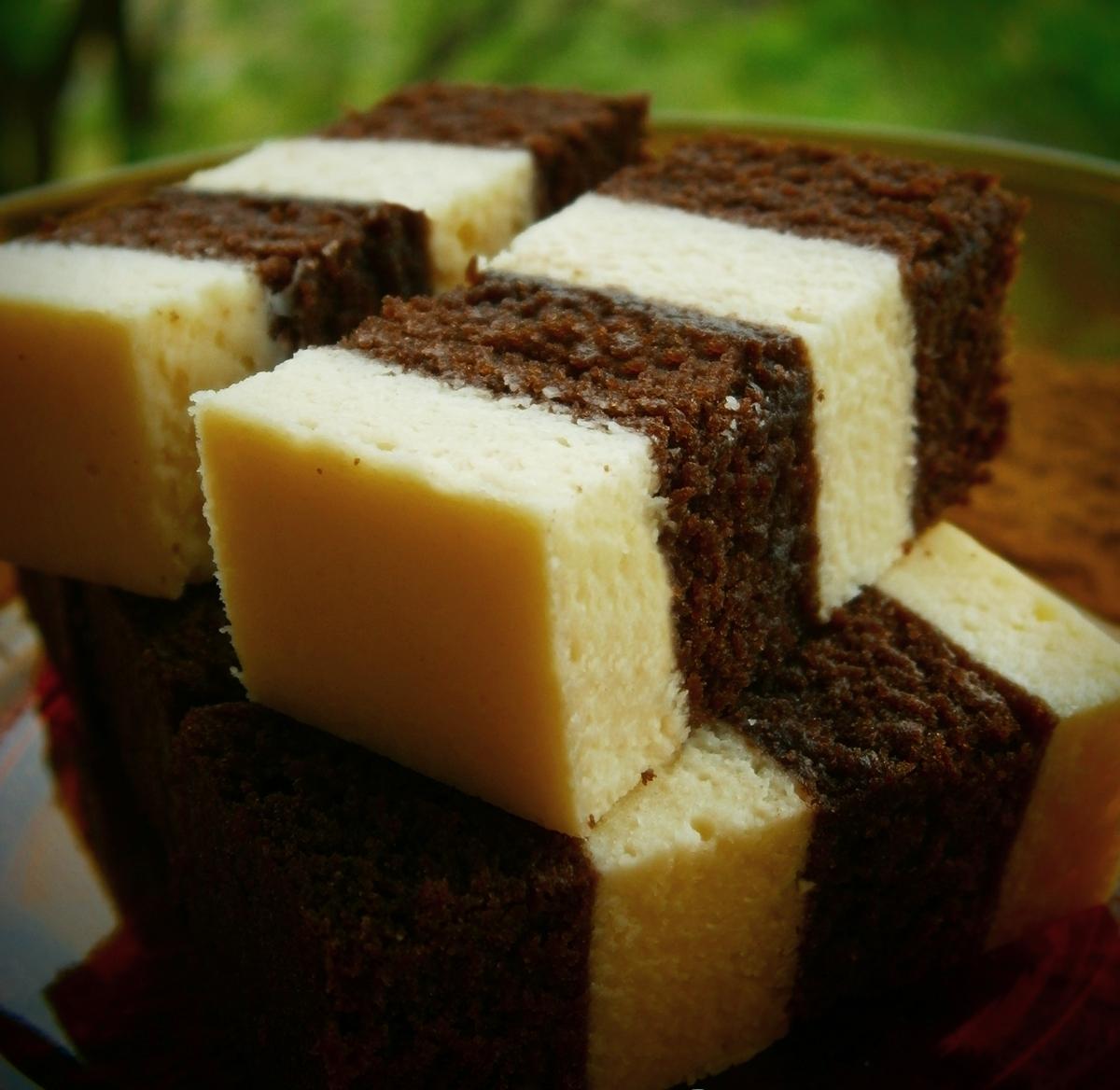 Resepi Kek Kukus Coklat Keju - Resepi Cik Bee