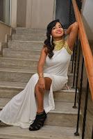 Actress Ishita Latest Stills in White Long Dress at Ippatlo Ramudila Seethala Evaruntaarandi Babu movie Audio Launch  03.jpg