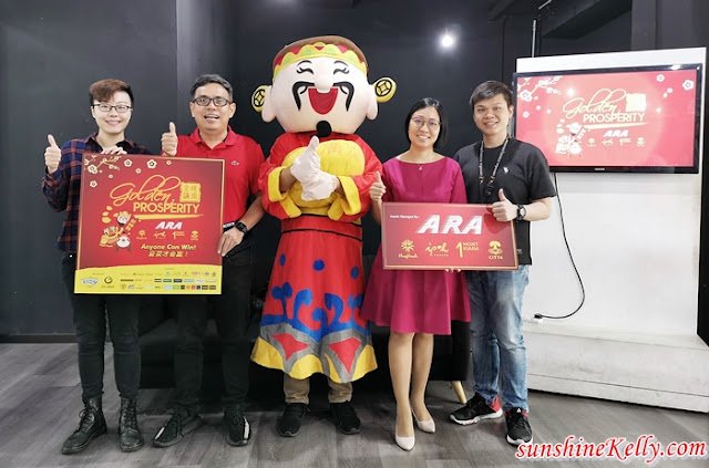 ARA Golden Prosperity, Anyone Can Win, Chinese New Year, Win Gold Bars, ARA Malls, Klang Parade, Ipoh Parade, 1 Mont Kiara, CITTA Mall, Lifestyle, CNY 2019, Chinese New Year Mall Decorations