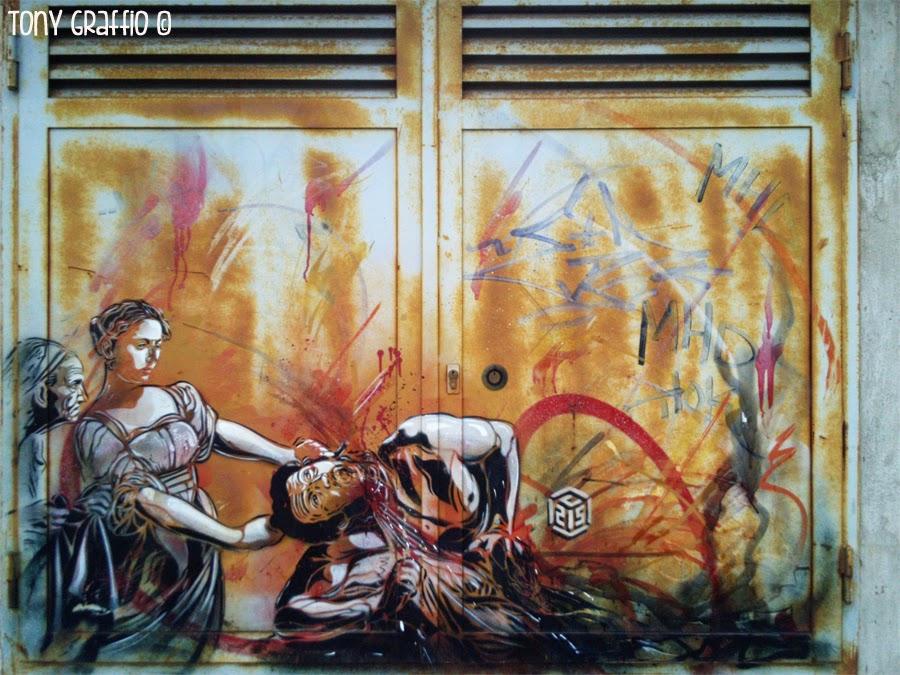 Street artist C215
