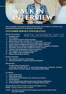 Loker Customer Service Officer (CSO) Terbaru Agustus 2020