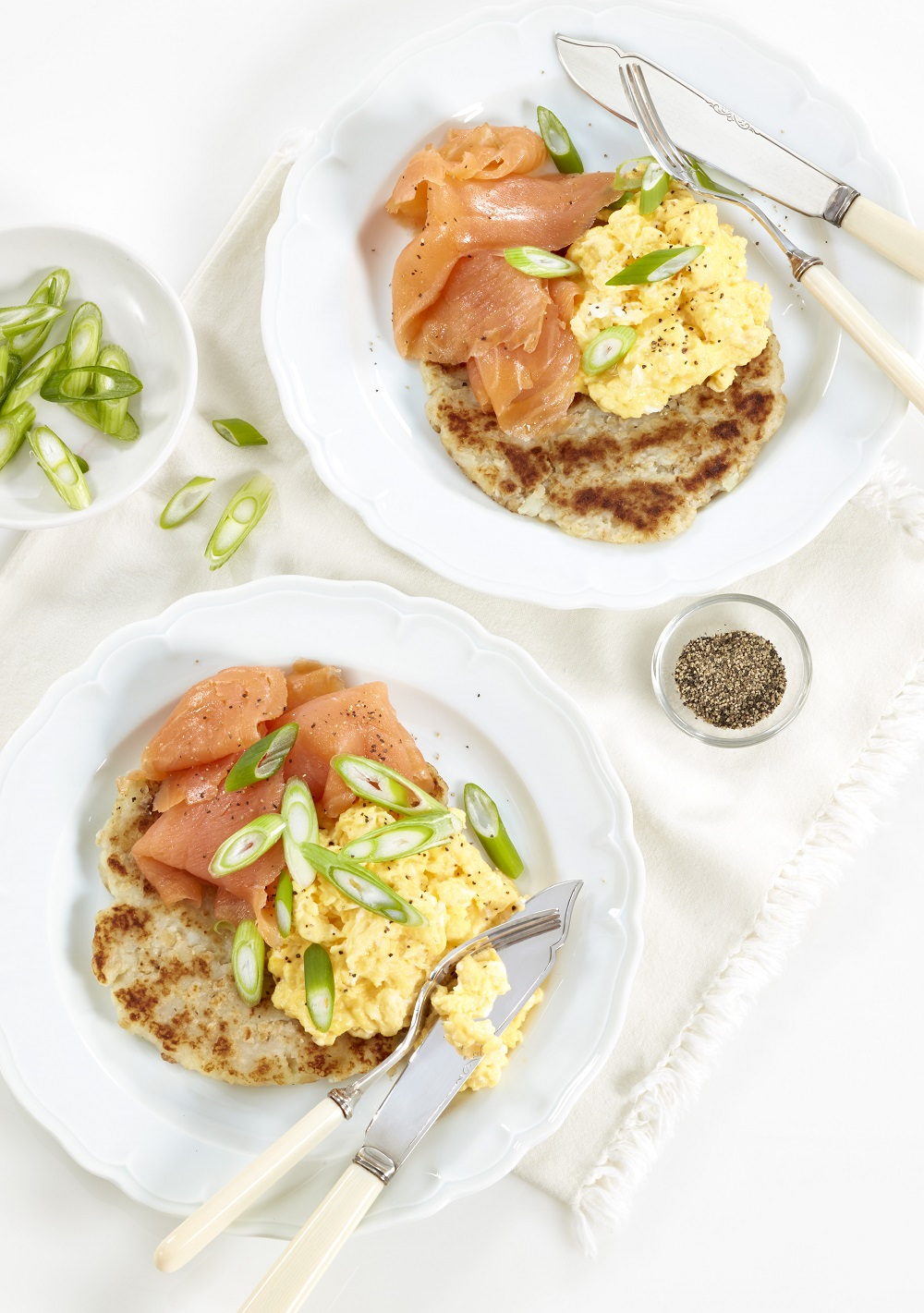 Oaty Potato Cakes And Smoked Salmon