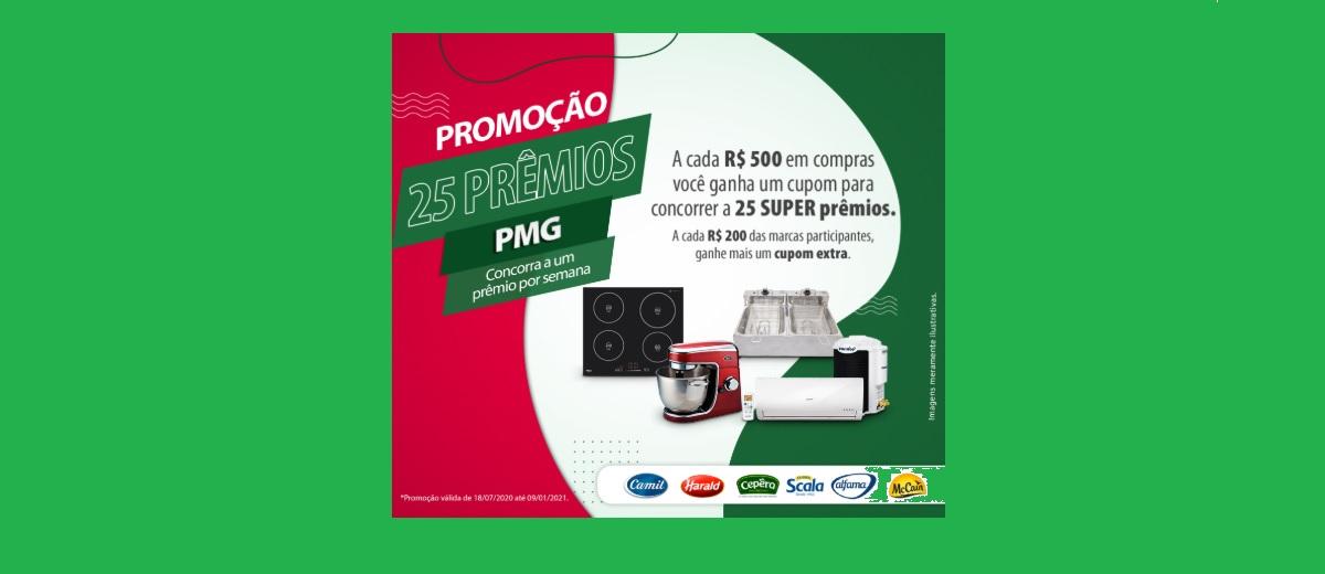 Promoção PMG Atacadista 25 Prêmios - 1 Prêmio Por Semana PMG