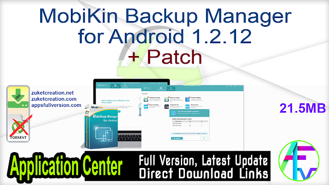 MobiKin Backup Manager for Android 1.2.12 + Patch