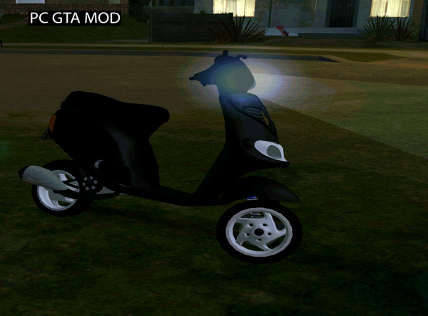 Free Download Piaggio Zip Fast Rider Mod for GTA San Andreas.