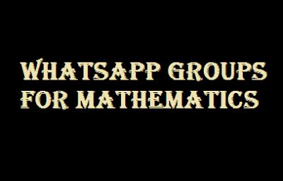 Whatsapp Groups for Mathematics