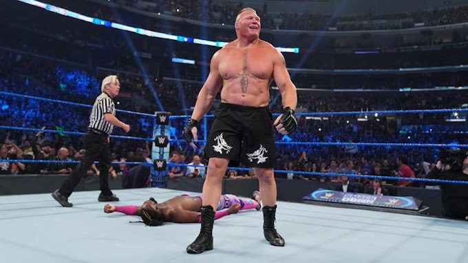 Kofi Kingston loses WWE Heavyweight Championship to Brock Lesnar under 10 seconds
