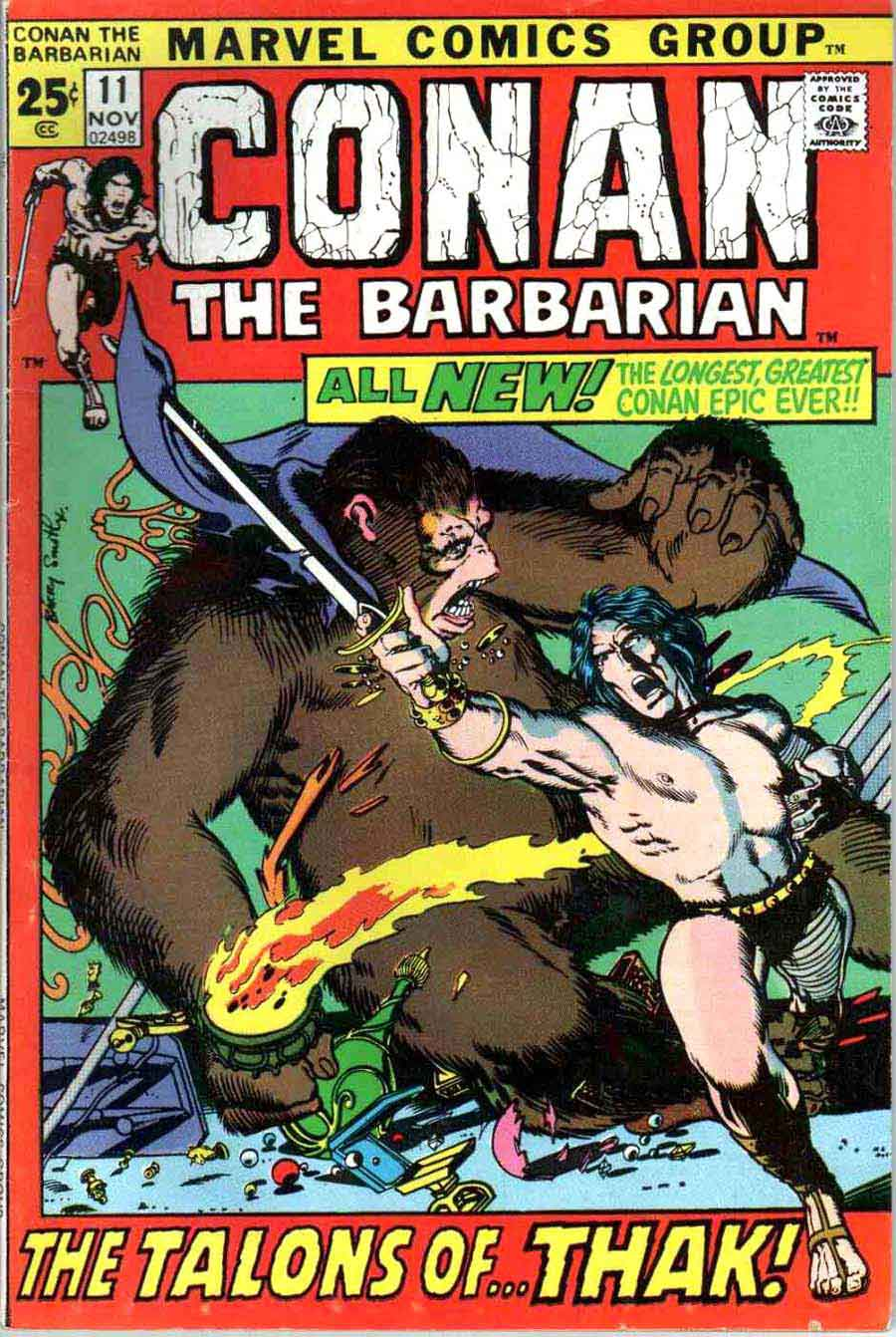 Conan the Barbarian v1 #11 marvel comic book cover art by Barry Windsor Smith