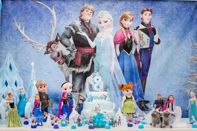 Tema da festa de aniversário Frozen