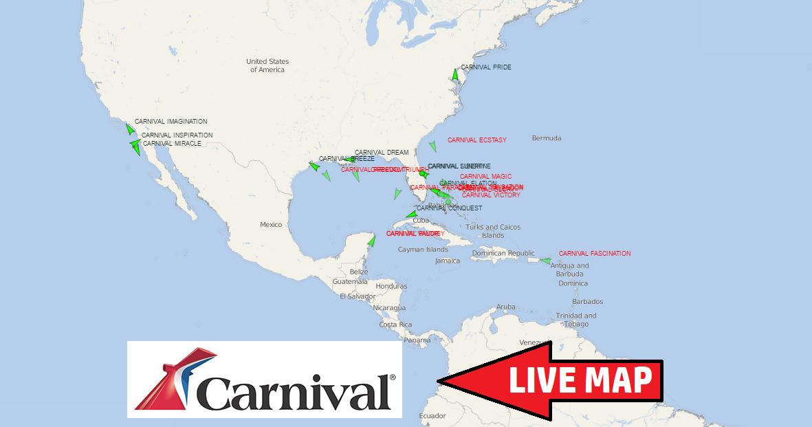 Carnival Ships Track