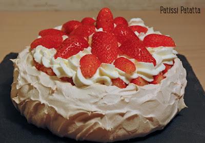 meringue, pavlova, fraises, chantilly, patissi-patatta
