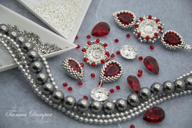 Серьги с кристаллами Сваровски