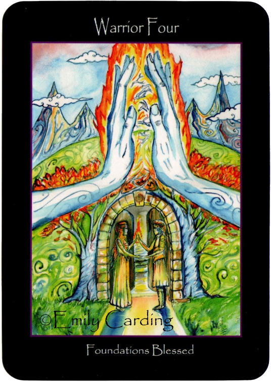 Tarot of the Sidhe, Warrior Four, Foundations Blessed, Emily Carding
