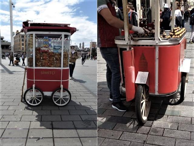 venditori di ciambelle e caldarroste istanbul