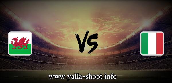 مباراة ايطاليا وويلز اليوم الأحد 20-6-2021 يلا شوت الجديد في بطولة اليورو