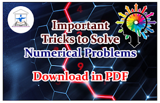 Important Tricks to Solve Numerical Problems- Download in PDF