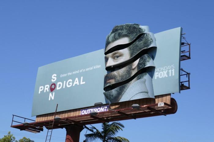Michael Sheen Prodigal Son 3D billboard