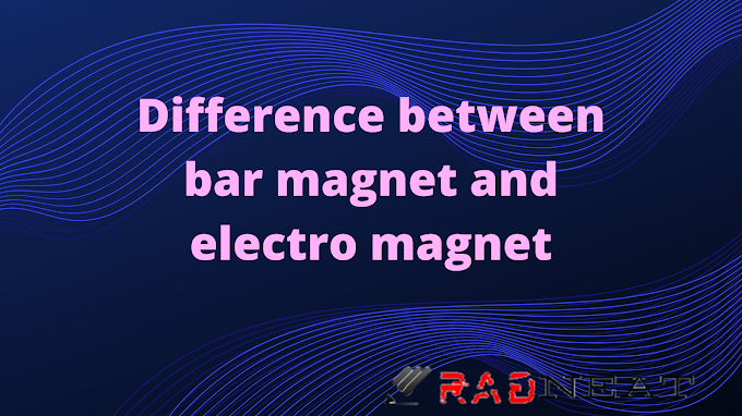 Differentiate between bar magnet and electromagnet class 10.