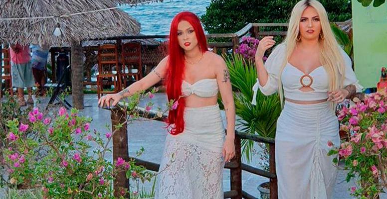 Luanny Vital e Raphaela Santos (A Favorita) bem tropicanas no clipe da música 'Não é o Fim'