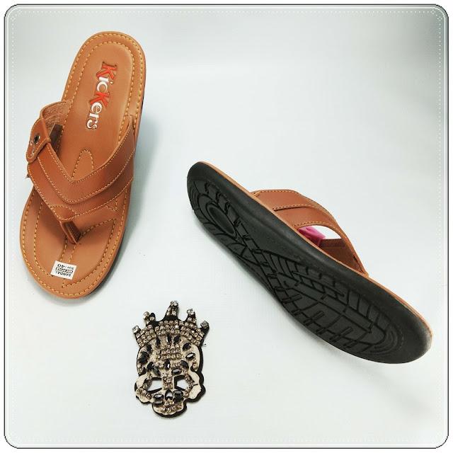 Sandal Imitasi Pria ELF- Sandal Imitasi Kulit Bahan Premium- Sandal Murah Online