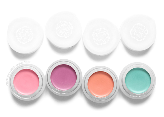 Shiseido Paperlight Cream Eye Colors Review Nobara Pink Shobu Purple Sango Coral Asagi Blue