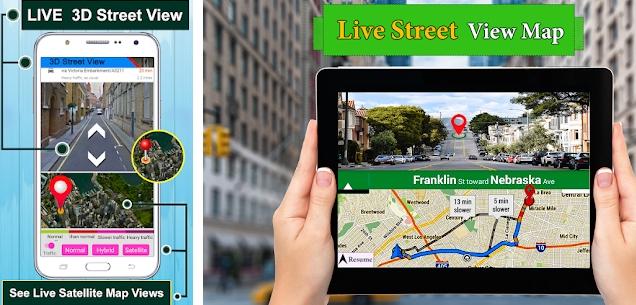 Aplikasi GPS Satellite Route Finder Map Direction