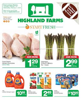Highland Farms Canada Flyer February 1 - 7, 2018