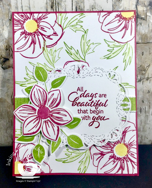 Card, Floral Essence, Perennial Flower Punch, Stitched Labels Die