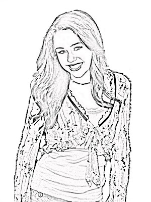 hannah montana halloween coloring pages-#7
