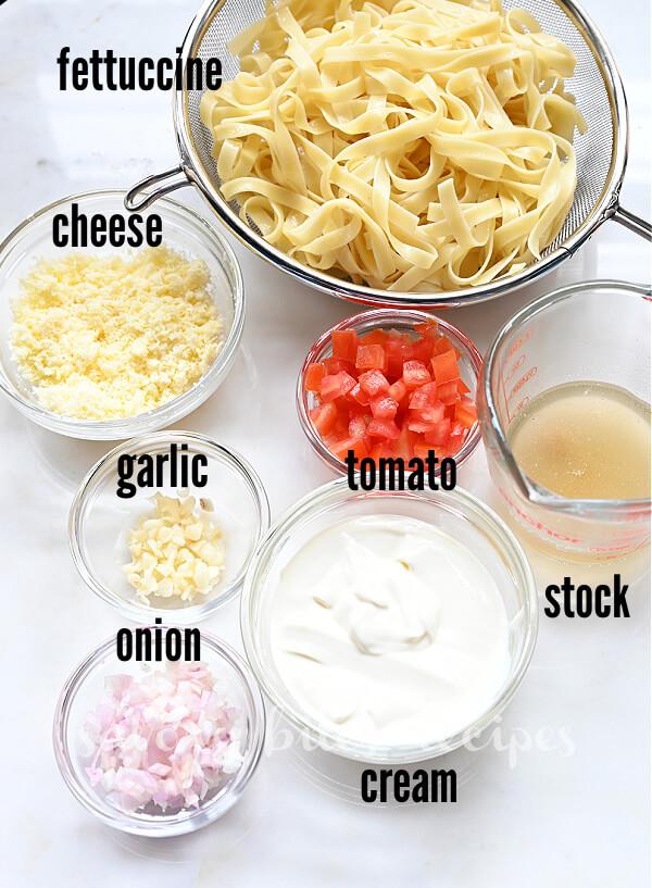 ingredients to make cajun shrimp pasta recipe