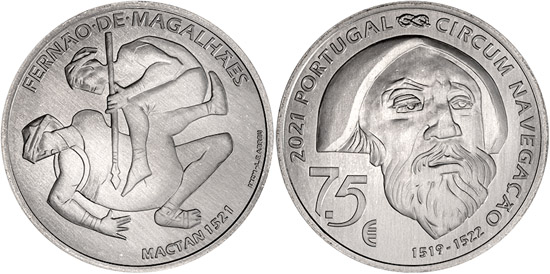 Portugal 7,5 euro 2021 - 5th Centenary of Ferdinand Magellan Circumnavigation