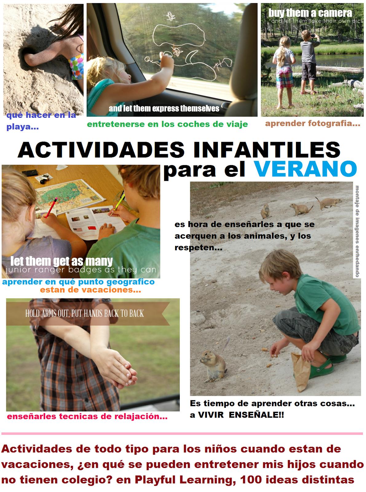 vacaciones, actividades, infantil, juegos para aprender