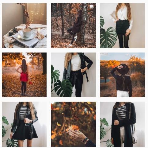 ładny blogowy instagram