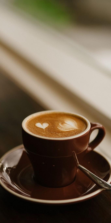 Papel de Parede Café com Corações