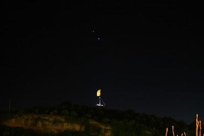 Saturn i Júpiter sobre la Torre de Sta. Caterina, Manresa - 12/12/2020 18:31