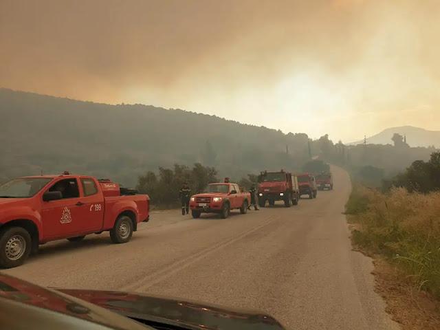 Σε κατάσταση έκτακτης ανάγκης κηρύχθηκε η πυρόπληκτη Κοινότητα Πισίων του Δήμου Λουτρακίου