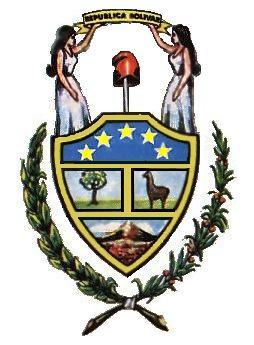 Dibujo del primer escudo de Bolivia a color