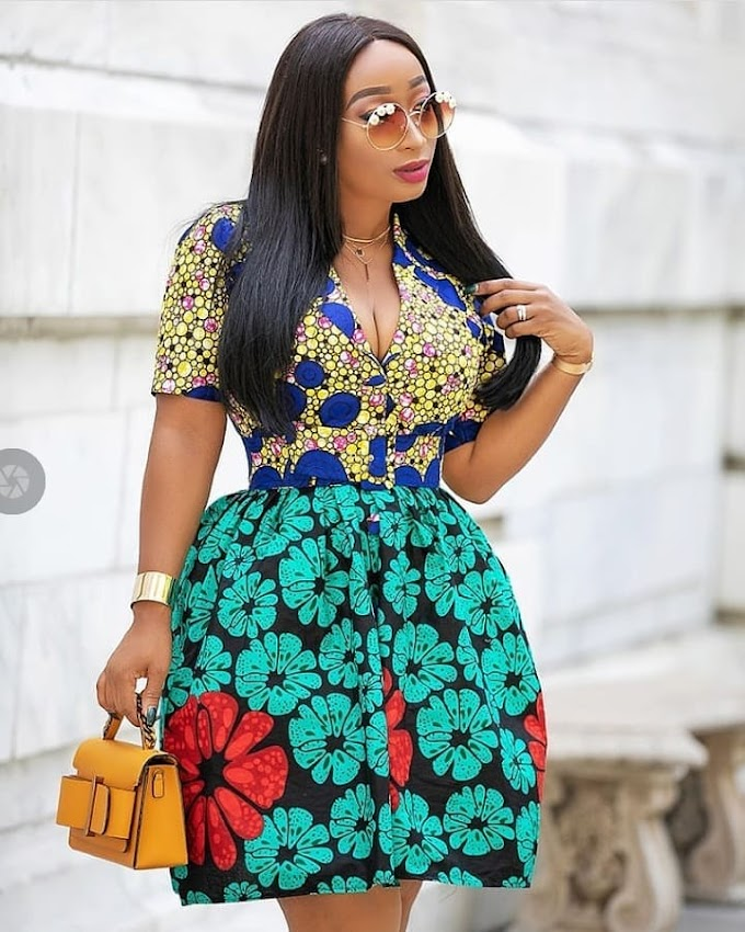 Beautiful Nigerian Lady Showing off Her Ankara Fashion Styles Pics