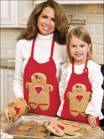 Mother & Daughter Gingerbread Aprons