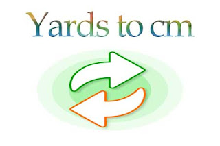 Yards to cm