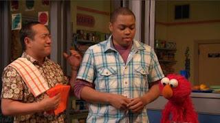 Elmo, Chris, Alan, Sesame Street Episode 4417 Grandparents Celebration season 44